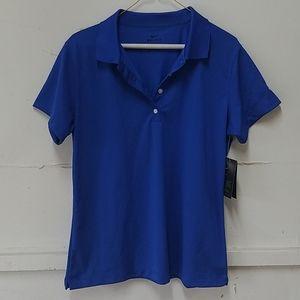 Nike Womans Blue Dri-fit Polo Shirt BNWT
